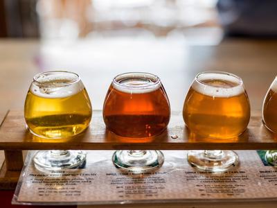 Fruit grain beers ciders flight