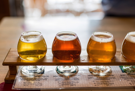 Fruit grain beers ciders flight