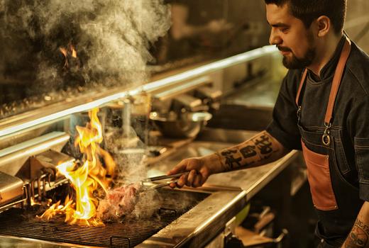 Galata fire flames grill