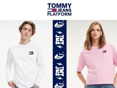 Tommy jeans platform   heat press
