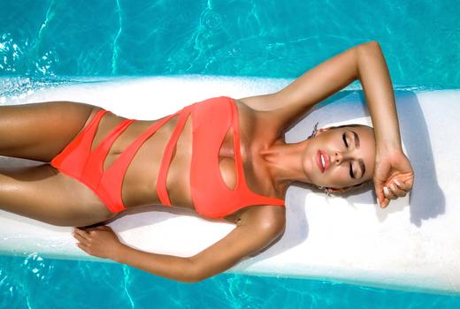 Sante model swimsuit