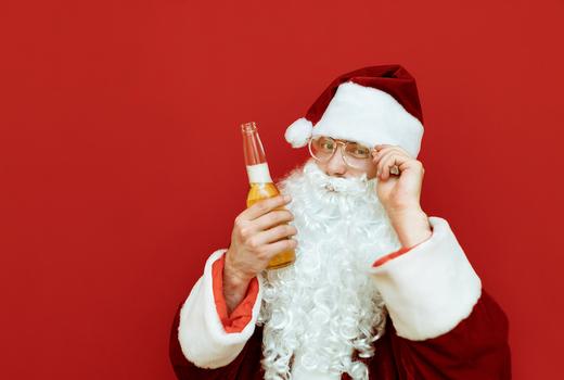 Sidebar santacon beer santa