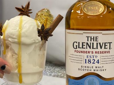 Glenlivet boozy ice cream