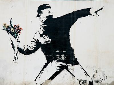Banksy art wall
