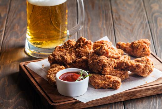 The village lantern chicken wings beer