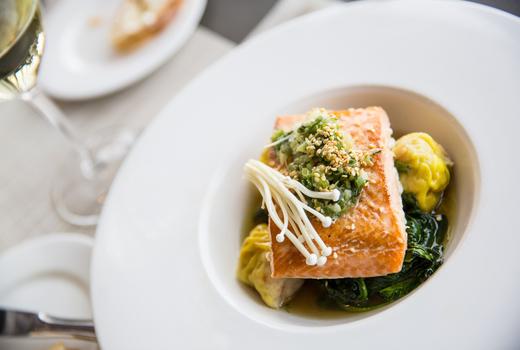 Cara mia wine fish salmon