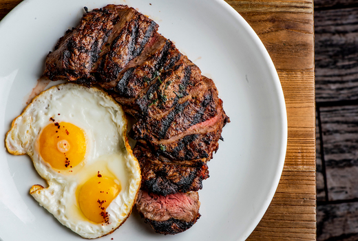 Tito murphy brunch steak and eggs