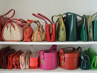 Vintage pop up bags