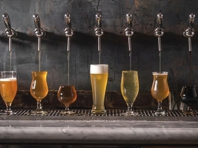 Jersey craft brew pours