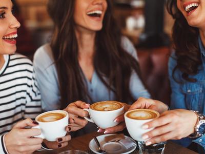 Coffee tea fest fun women