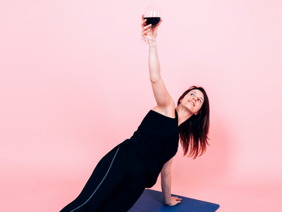 Yoga and wine