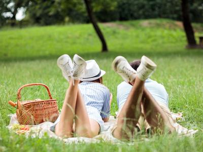 Tara rose picnic couple love
