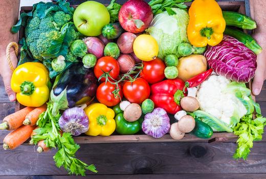 Go organic nyc fruit veg basket