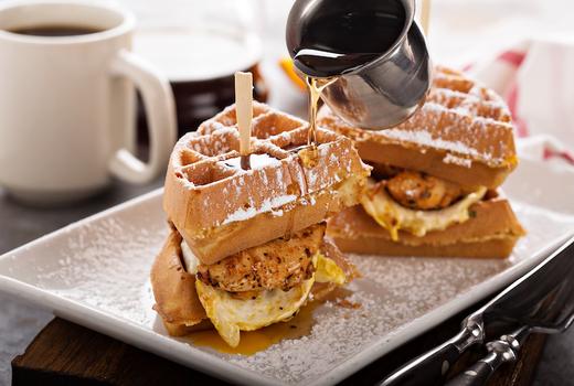 Nisi waffle sandwich