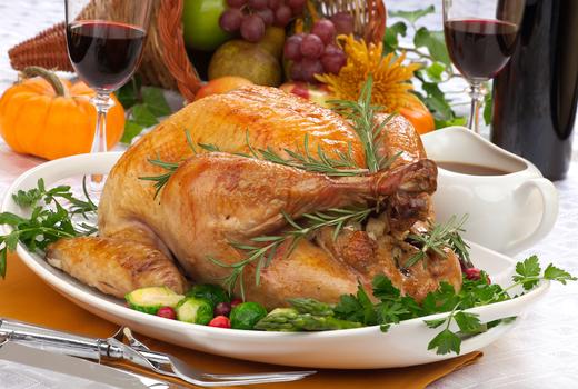 Ding thanksgiving turkey wine