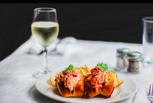 Harvest kitchen lobster rolls wine
