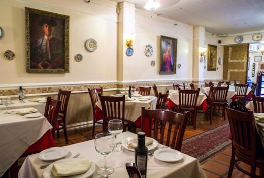 Alcala restaurant inside paintings